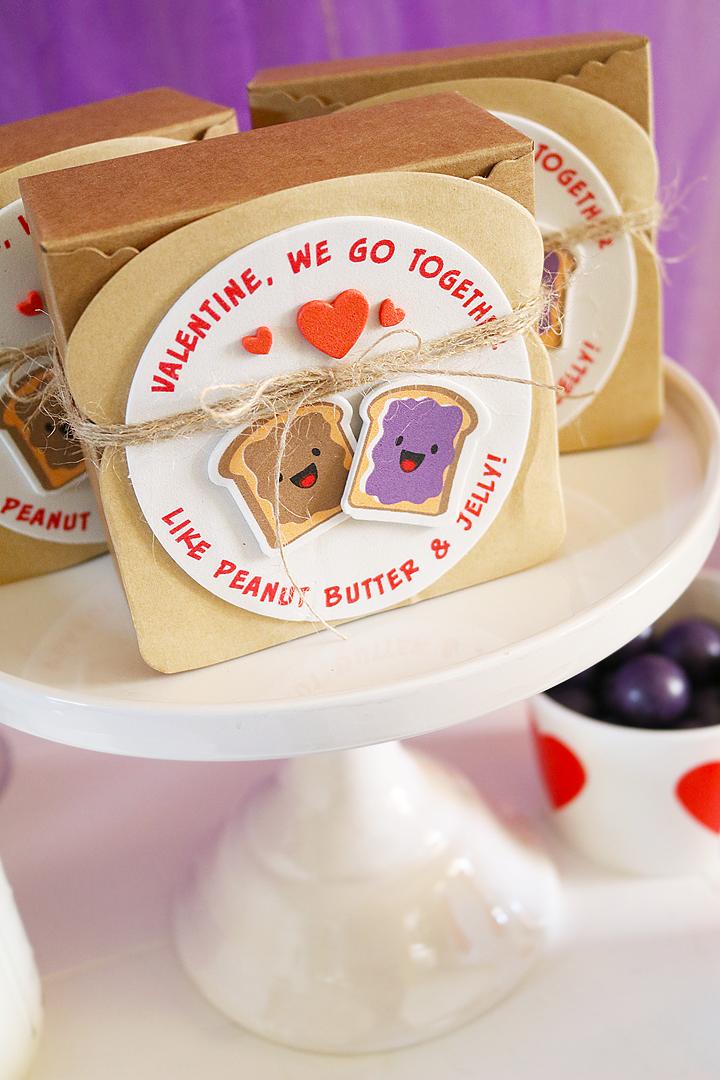 We Go Together Like PB & J Valentine's Day Party Favor