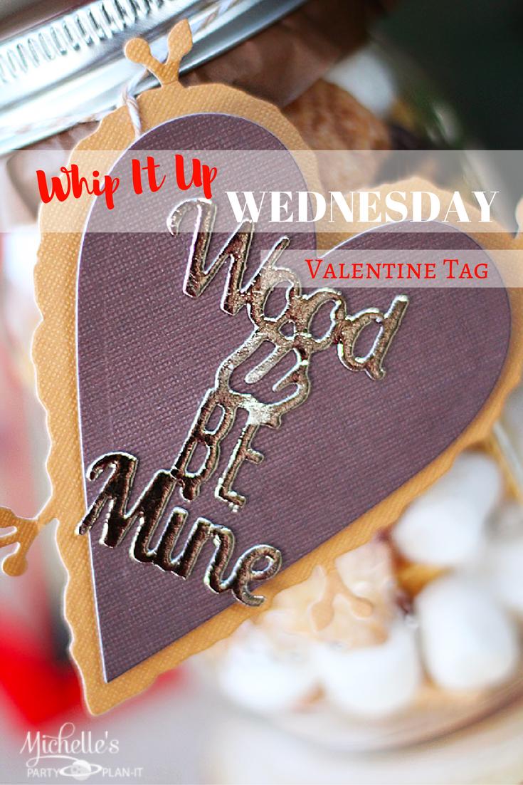 Wood U Be Mine Valentine Tag