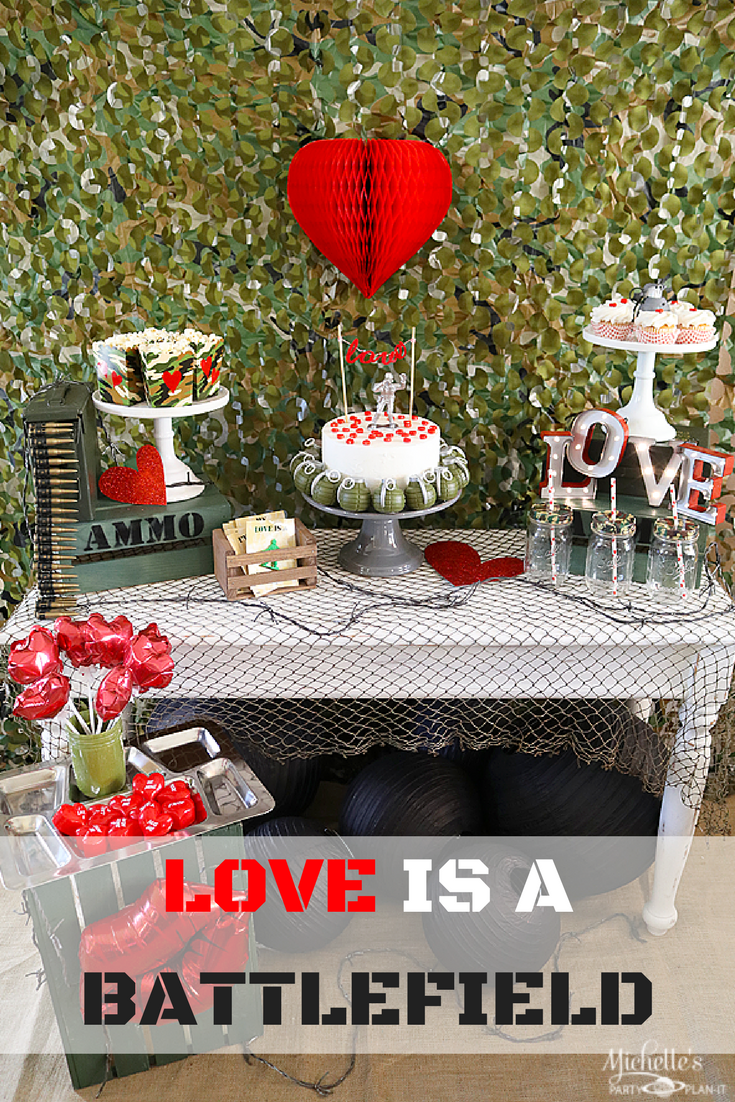 Love is a Battlefield Valentine's Day Party