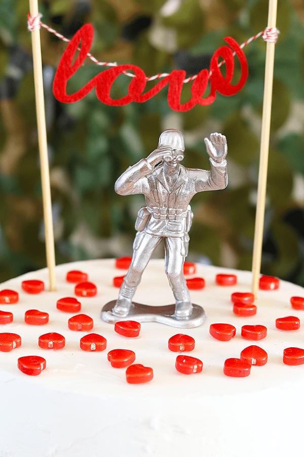 Love is a Battlefield Cake Topper