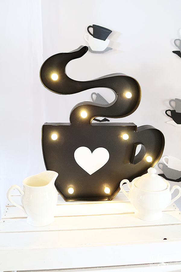 All You Need is Love and Coffee Party Signs