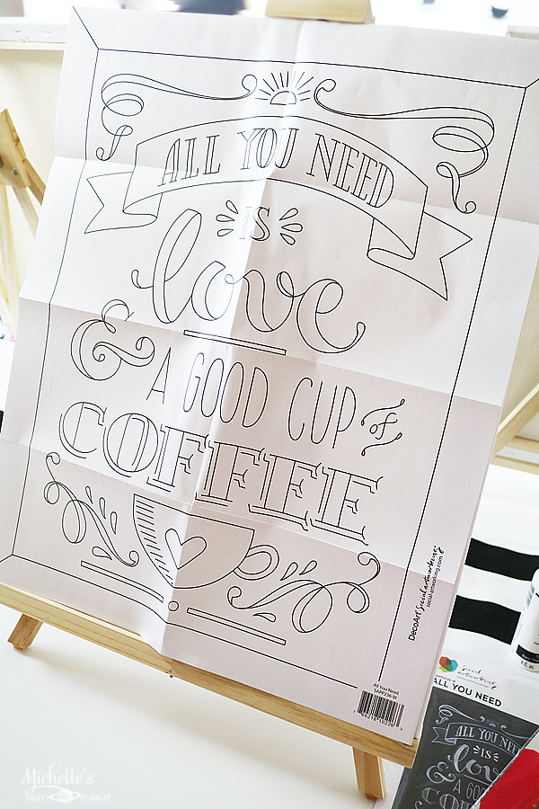 All You Need is Love and Coffee Painting