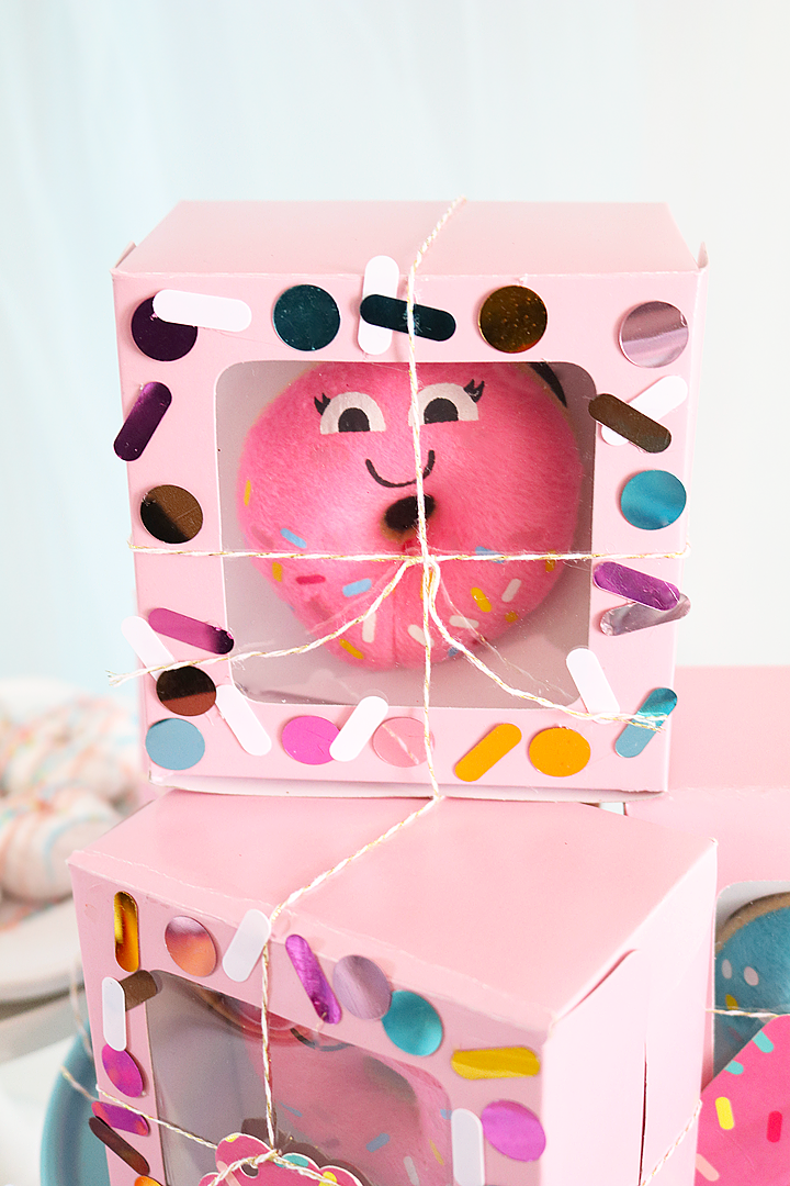 Donut Party Ideas - Party Favor Boxes
