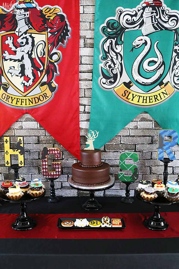 Harry Potter Birthday Party Table Set Up