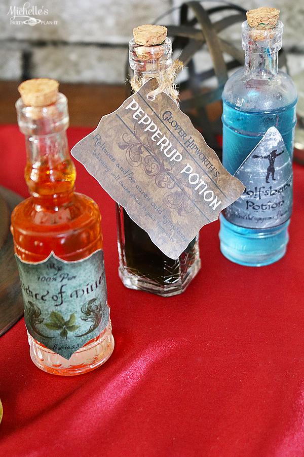 DIY potion bottles