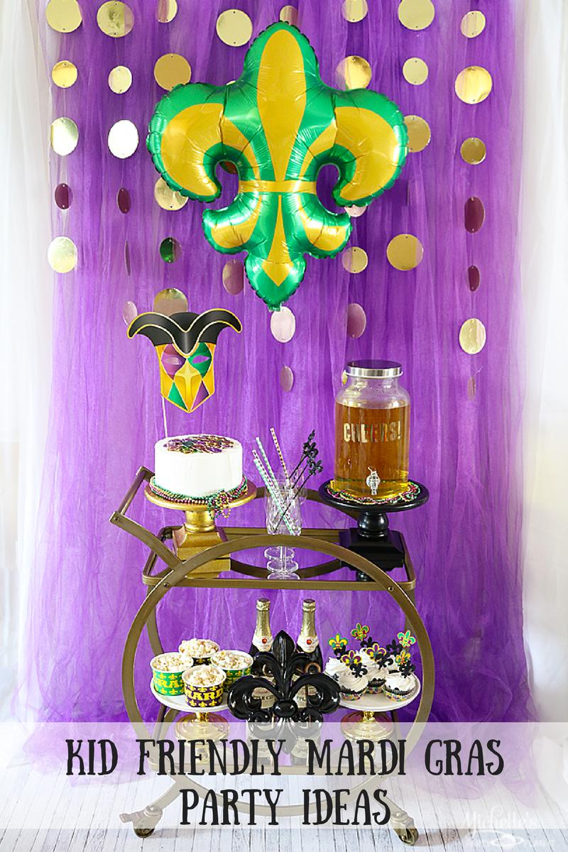 Mardi Gras Celebration Ideas – A Kid Friendly Bar Cart