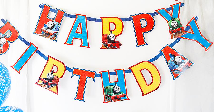 Thomas The Train Birthday Party Banner