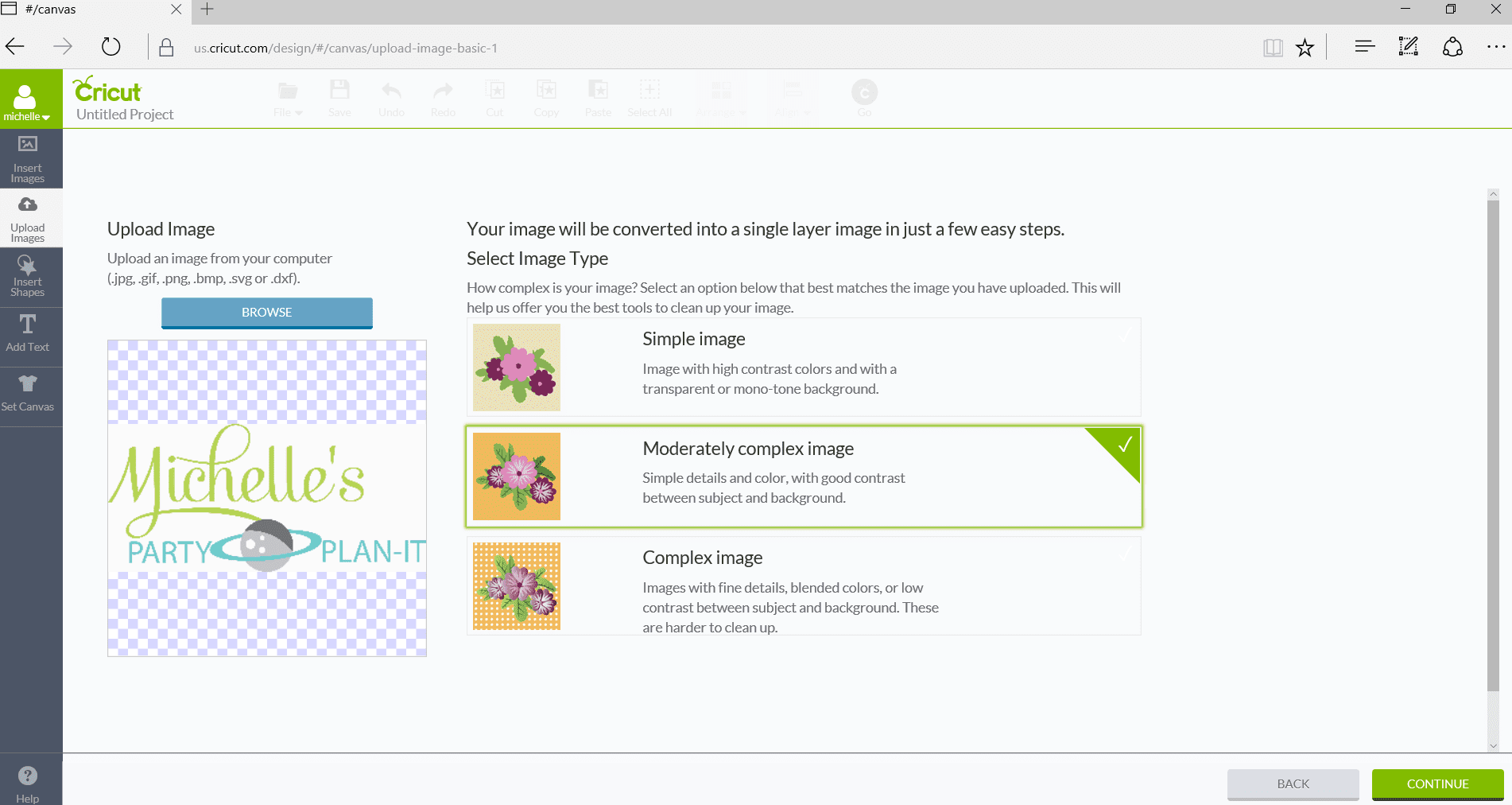 How to Upload Your Own Images with Cricut Explore Air 2 Image Detail