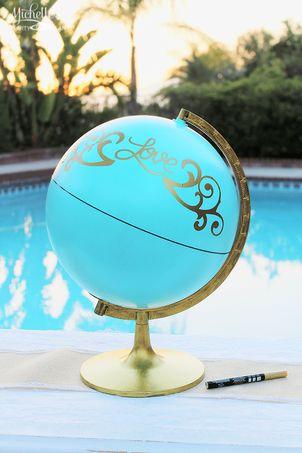 Wedding Ideas - DIY Globe Guestbook