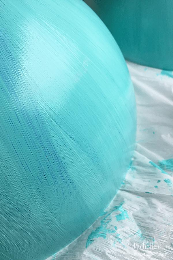 DIY Globe Guestbook paint details