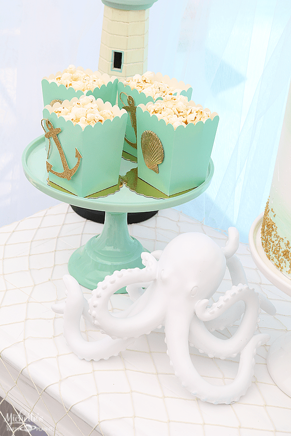 Sip & Sea Gender Reveal Party Treat Boxes