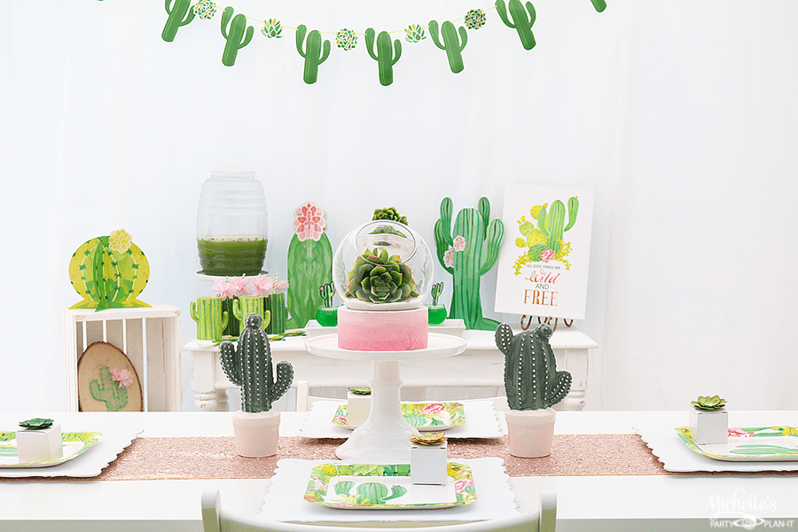 Cactus Party Table and Party Decor