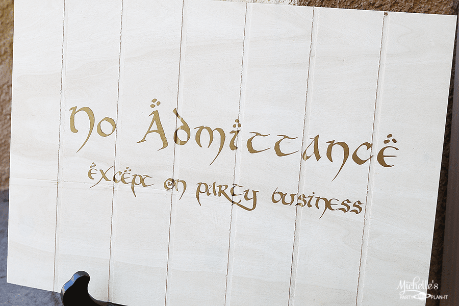 Lord of the Rings Party - Bilbo's Party Sign