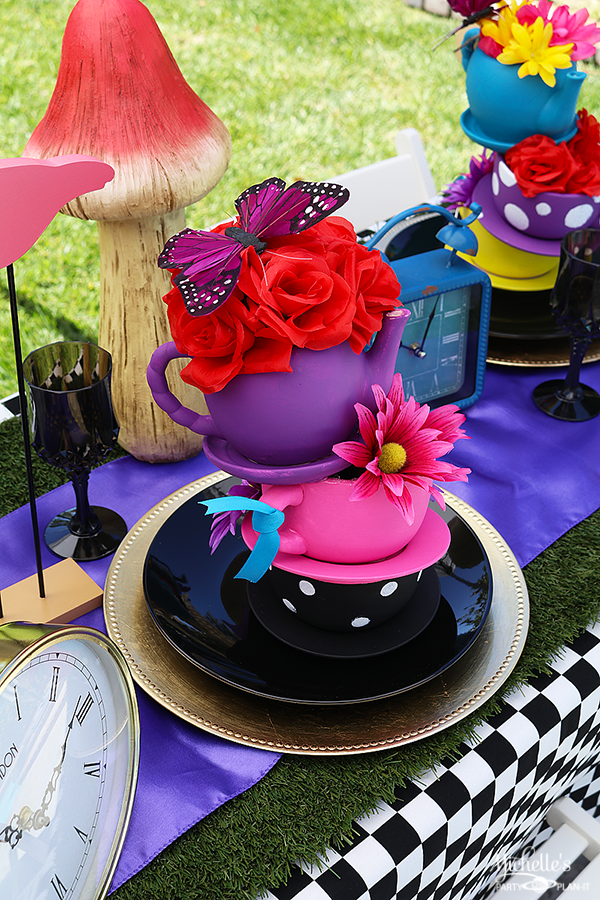 Mad Hatter Tea Party Centerpiece - Tea Cups