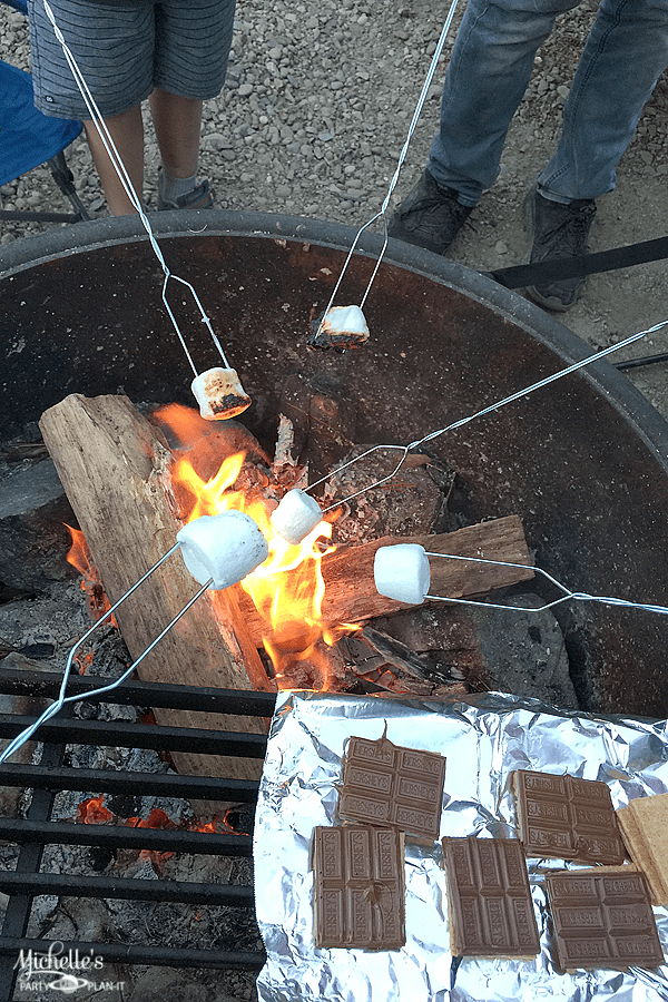 How to roast marshmallows for Smores