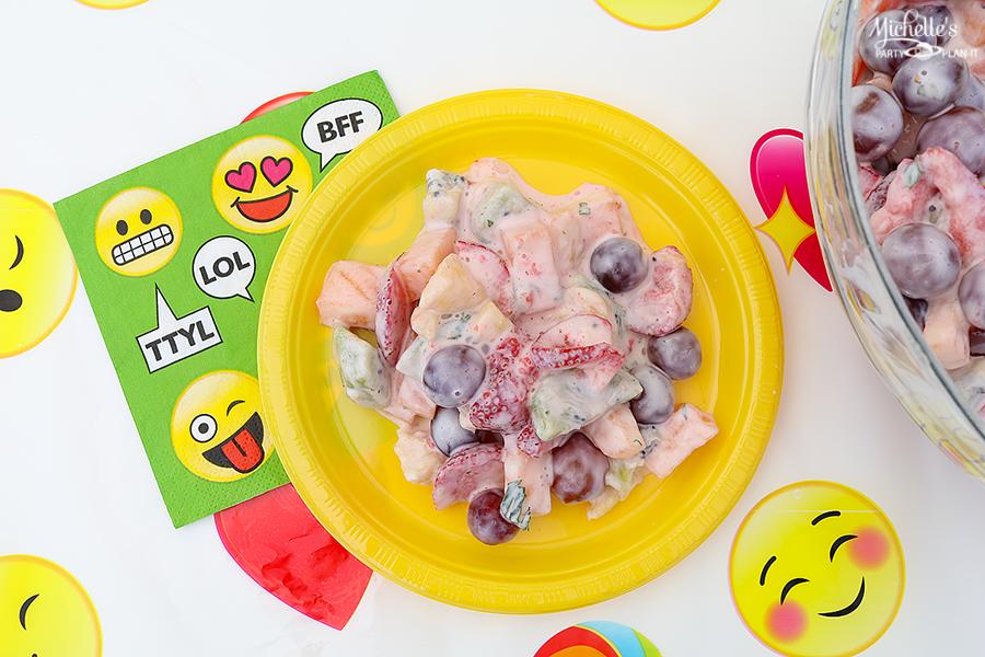 Emoji Pool Party Ideas - Summer Fruit Salad