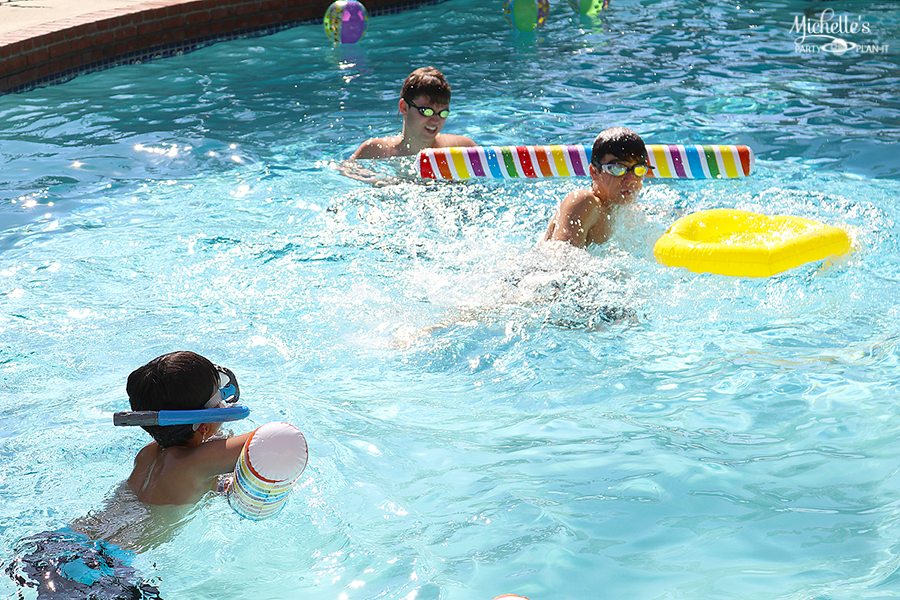 Emoji Pool Party Ideas - Swimming