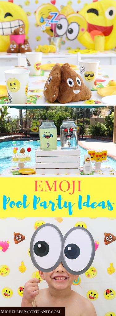 Emoji Pool Party Ideas