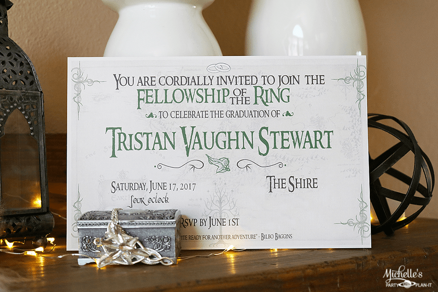 Lord of The Rings Party Ideas - Invitation