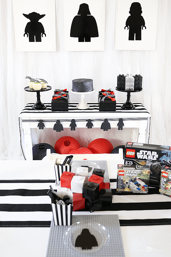 Star Wars Lego Party Table