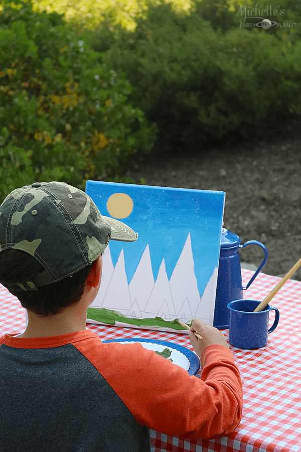 Campong and painting with Social Artworking