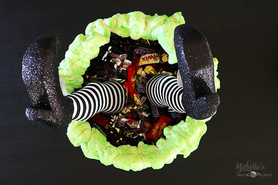 DIY Bubbling Witches' Cauldron Legs