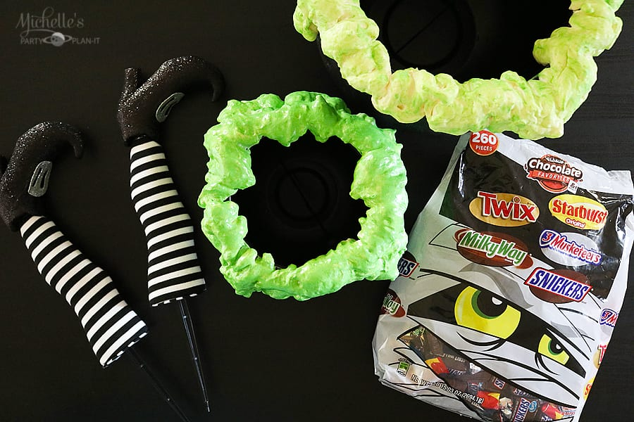 DIY Bubbling Witches' Cauldron supplies