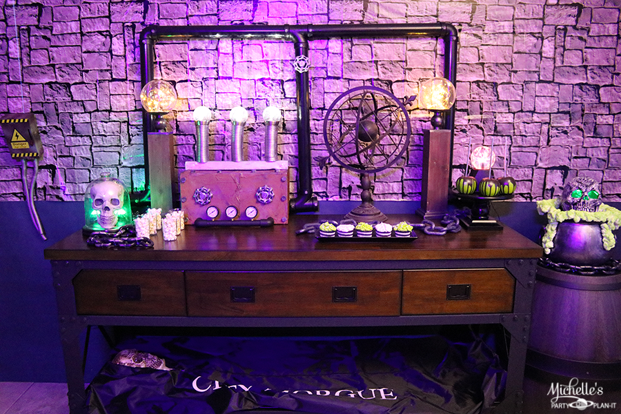 Mad Scientist Halloween Party Table