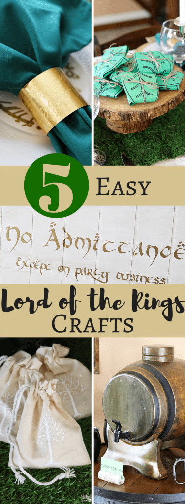 5 Easy Lord of the Rings Inspired Crafts