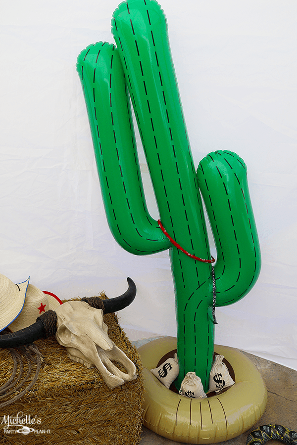 Cowboy Birthday Party Games - Cactus Ring Toss