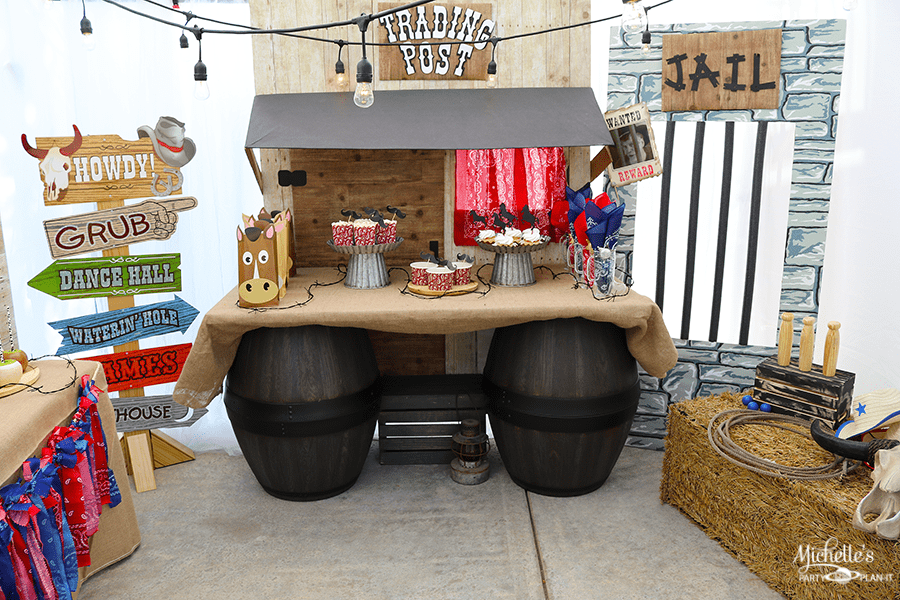Cowboy Birthday Party Table