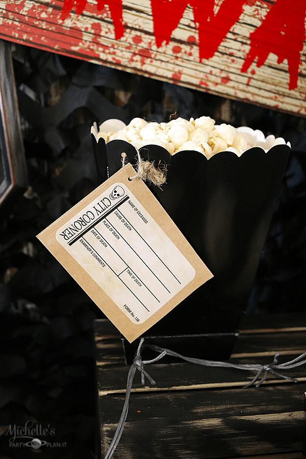 Scary Movie Halloween Party Popcorn