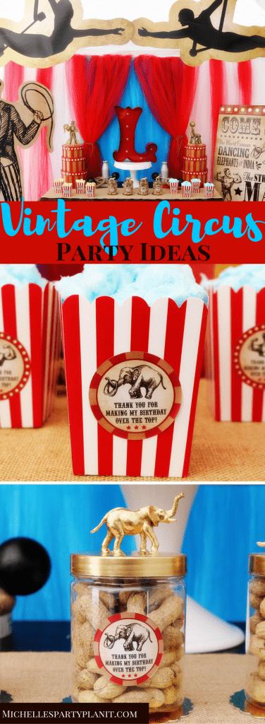 Vintage Circus Party Ideas