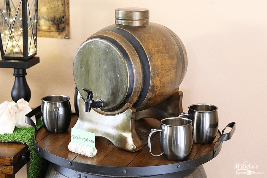 Prancing Pony Aged Barrel Drink Dispenser