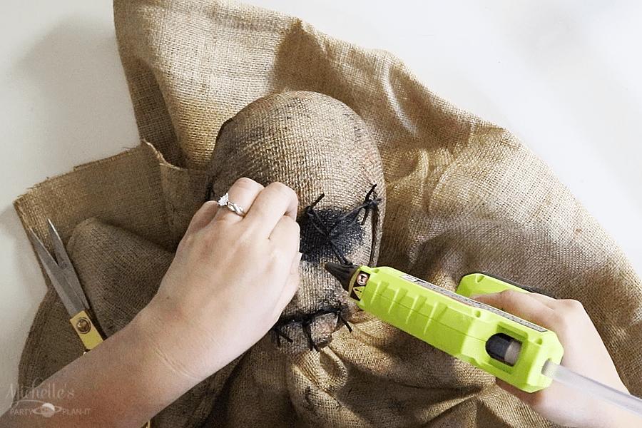 DIY Scarecrow Prop - Stitching