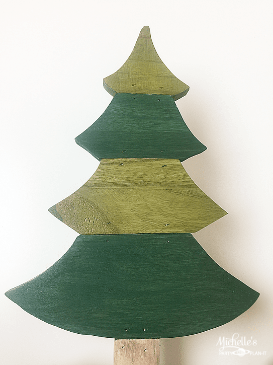 rustic christmas tree painted