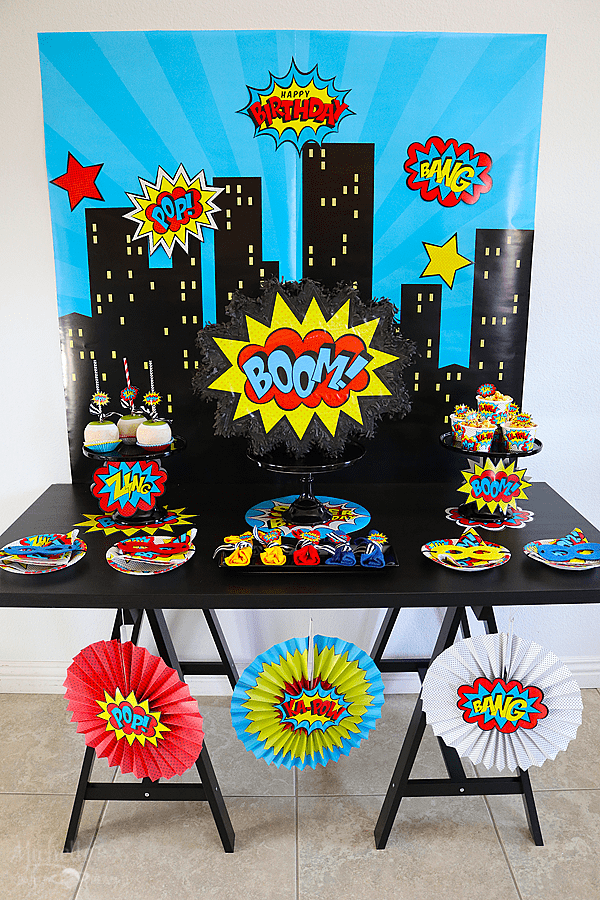 Budget Friendly Superhero Party