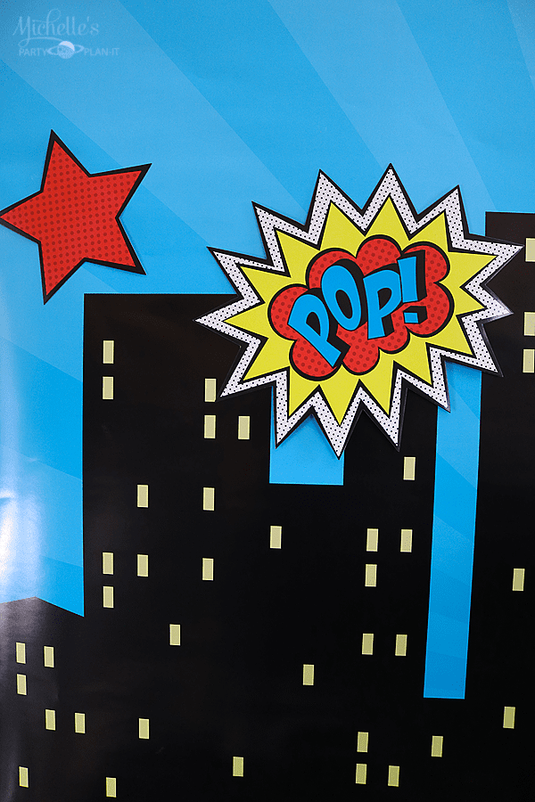 Budget Friendly Superhero Party Backdrop