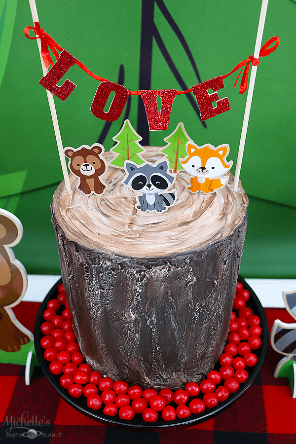 Wood you be mine Valentine's Day Party Cake