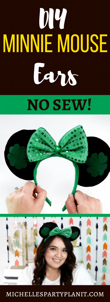 NO SEW DIY MINNIE MOUSE EARS