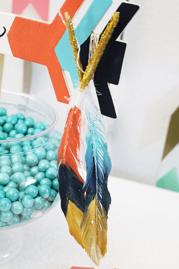 Tribal Gender Reveal DIY Feathers