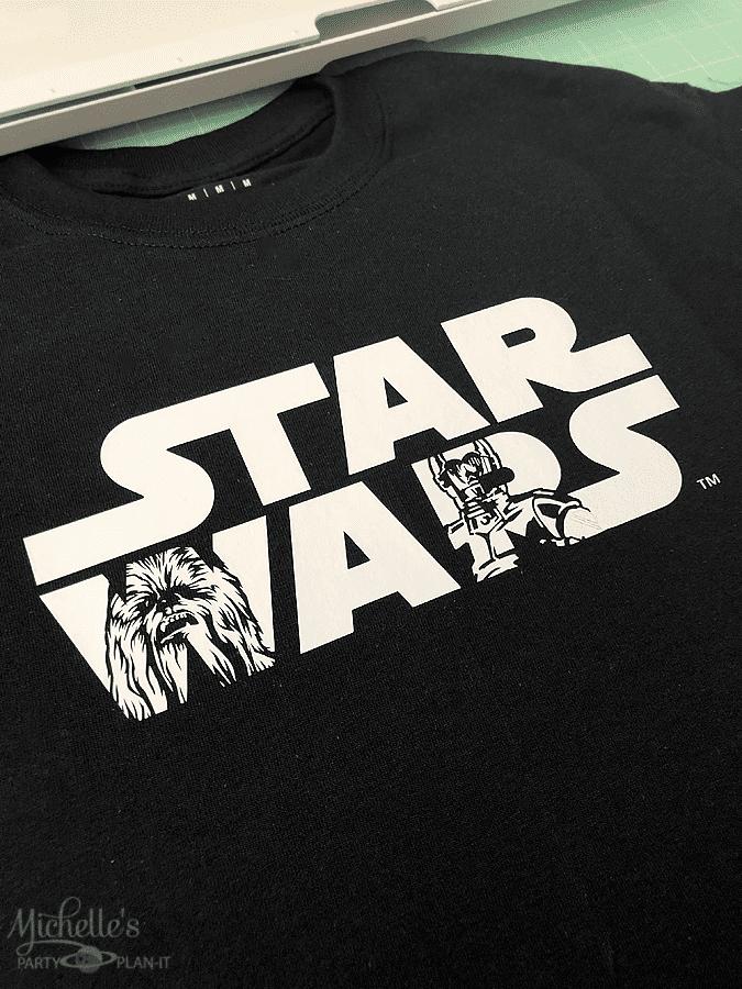 DIY Star Wars Shirt Cricut EasyPress Mat