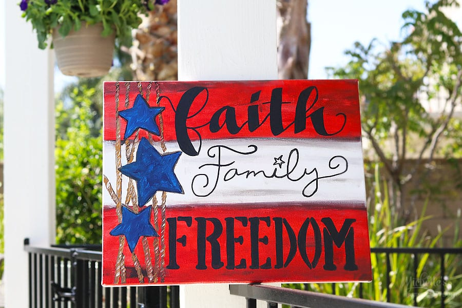 How to make Patriotic Wall Art for your Home