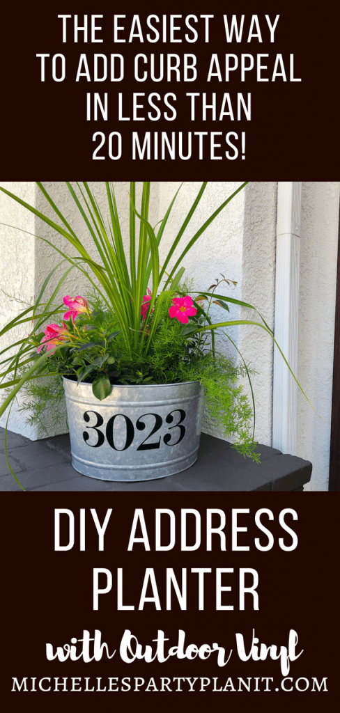 DIY Address Planter