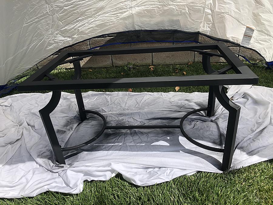 Spray Painted Metal Table