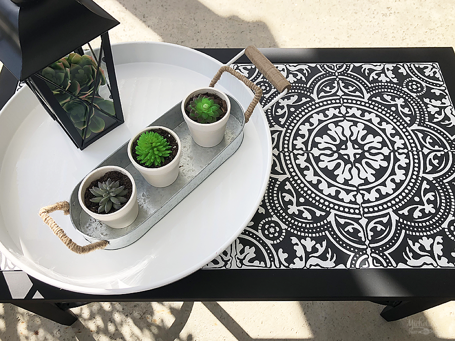 How to Stencil a Ceramic Tile Tabletop
