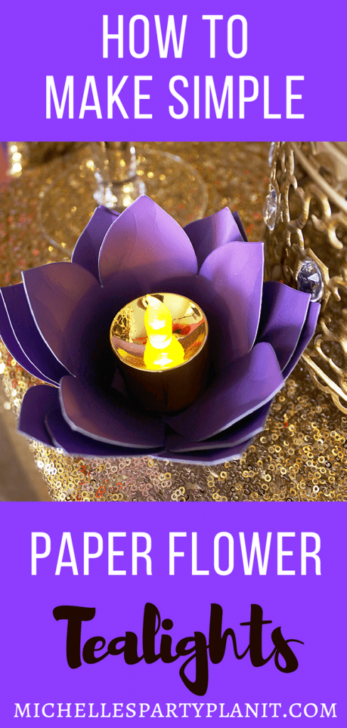 How to make paper flower tealights