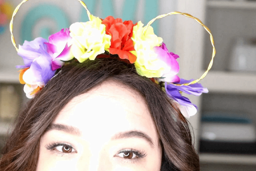 DIY Floral Minnie Mouse Ears