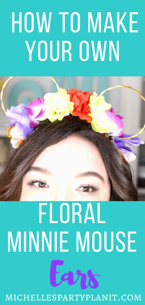 How to make your own DIY Floral Minnie Mouse Ears
