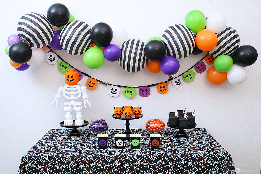 Lego Brick or Treat Halloween Party Table